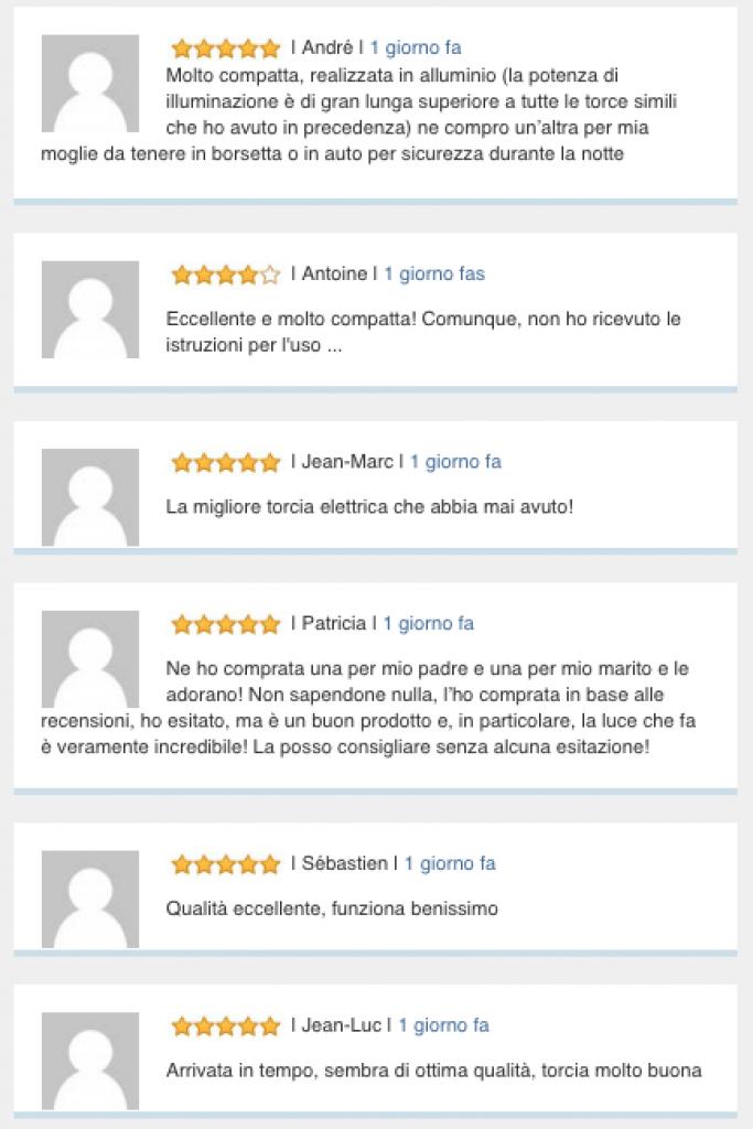 torcia tattica lumify recensioni